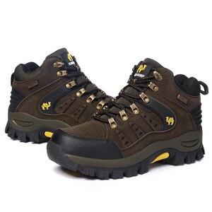 Image 4 - 2019 커플 야외 산 사막 등산 신발. 남성 여성 발목 하이킹 부츠, 플러스 사이즈 패션 클래식 트레킹 신발