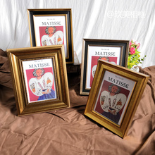 Matisse  Oil Frame Retro Deep gold Picture Frame Hanging Wall Brutalist Matisse Niche American Decoration  Frames for Pictures