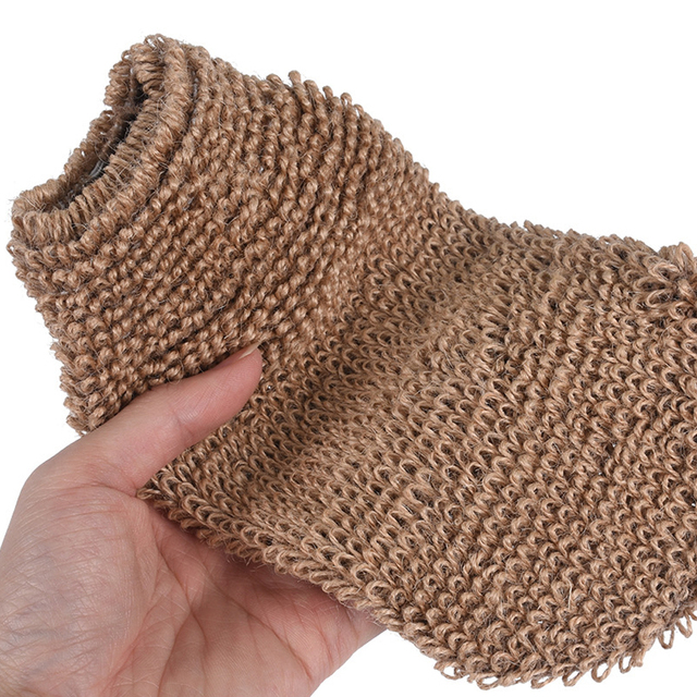 Portable Bath Gloves Exfoliating Skin Wash Towel Massage Back Shower Scrubber Plant Fiber Cleaning Towel