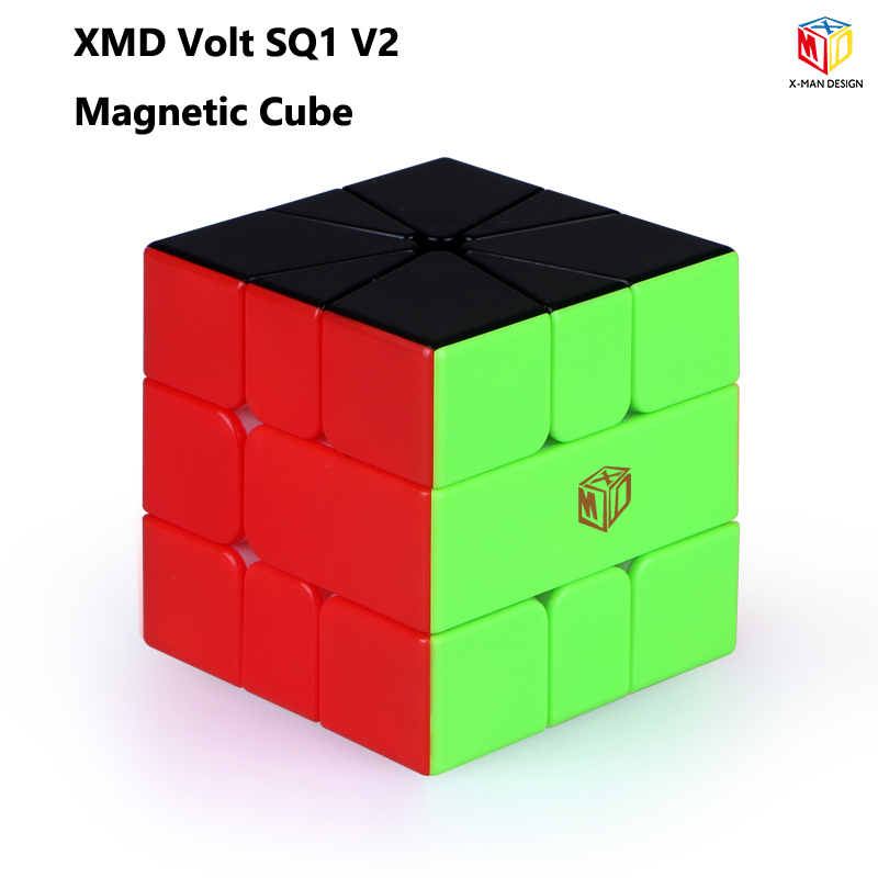 XMD Hot Selling Newest Qiyi Mofangge Volt SQ1 V2 M X-Man Design Magnetic SQ-1 Square 1 Speed Cube Magico Cubo Educational Toy