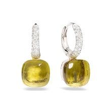 Baoyocn 23 cores facetado cristal doce brincos quadrados 3 cor do ouro embutir zircon cz gota de água brincos moda jóias femininas