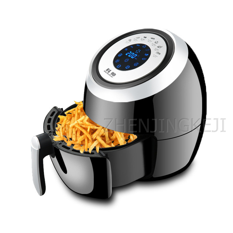 220V/110 Home Air Fryer Commercial 5.5L High Capacity No Oily Smoke Nonstick Pan Electric Fryer Airfryer For Kitchen Multicooker