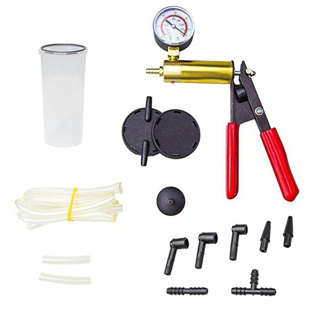 Professional Hand Held Vacuum Pump Kit Car Auto Pressure Tester Brake Bleeder Tester Set Portable Durable Repair Set