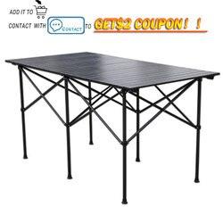 Table pliante extérieure de pique-nique d'alliage d'aluminium de Camping de chaise de Table imperméable à l'eau Table pliante Durable bureau pour 140*70*70cm