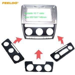 "Image 1 - FEELDO Car Stereo Radio for Skoda Octavia 04 14 Big Screen 10.1"" Fascia Frame Adapter 2Din DVD Player Panel Dash Frame Kit"
