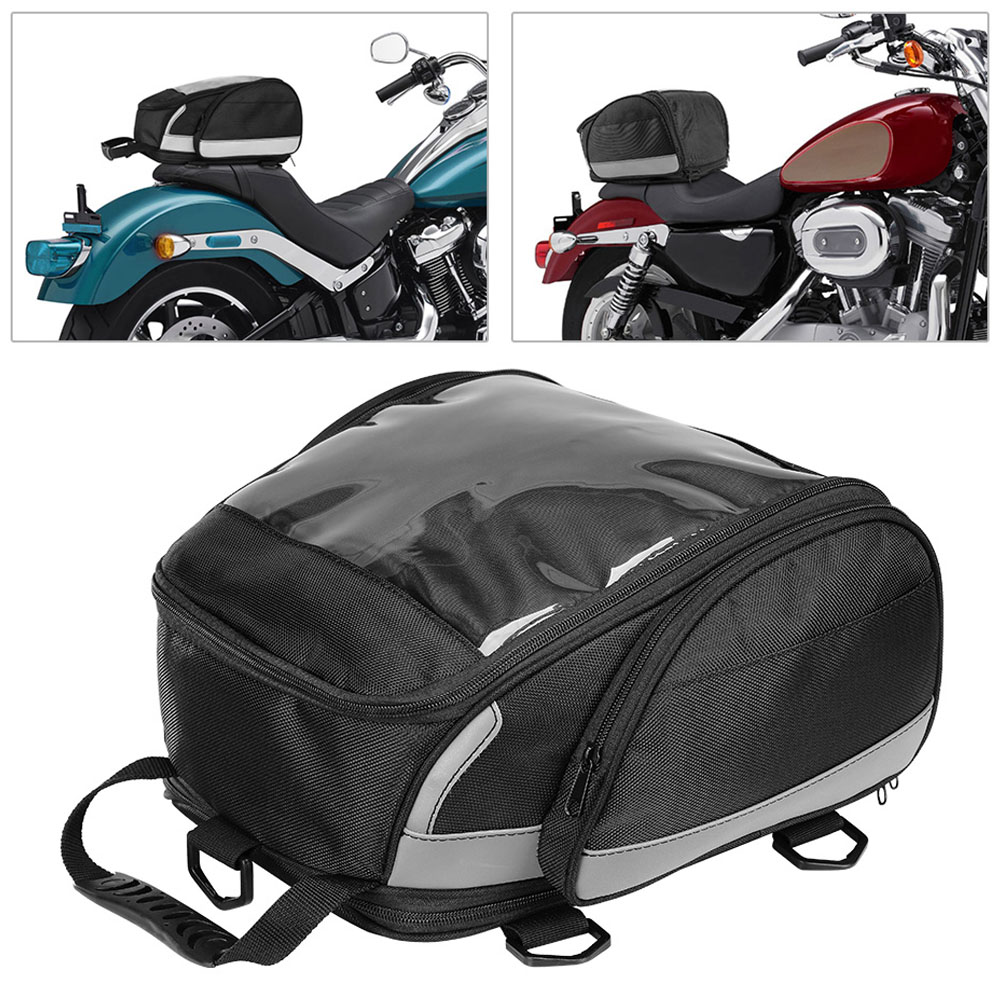 1PC Motorcycle Tail Bag Rear Back Seat Cycling Backpack Travel Sport Luggage Rider Pack High Quality 1680D Polyester