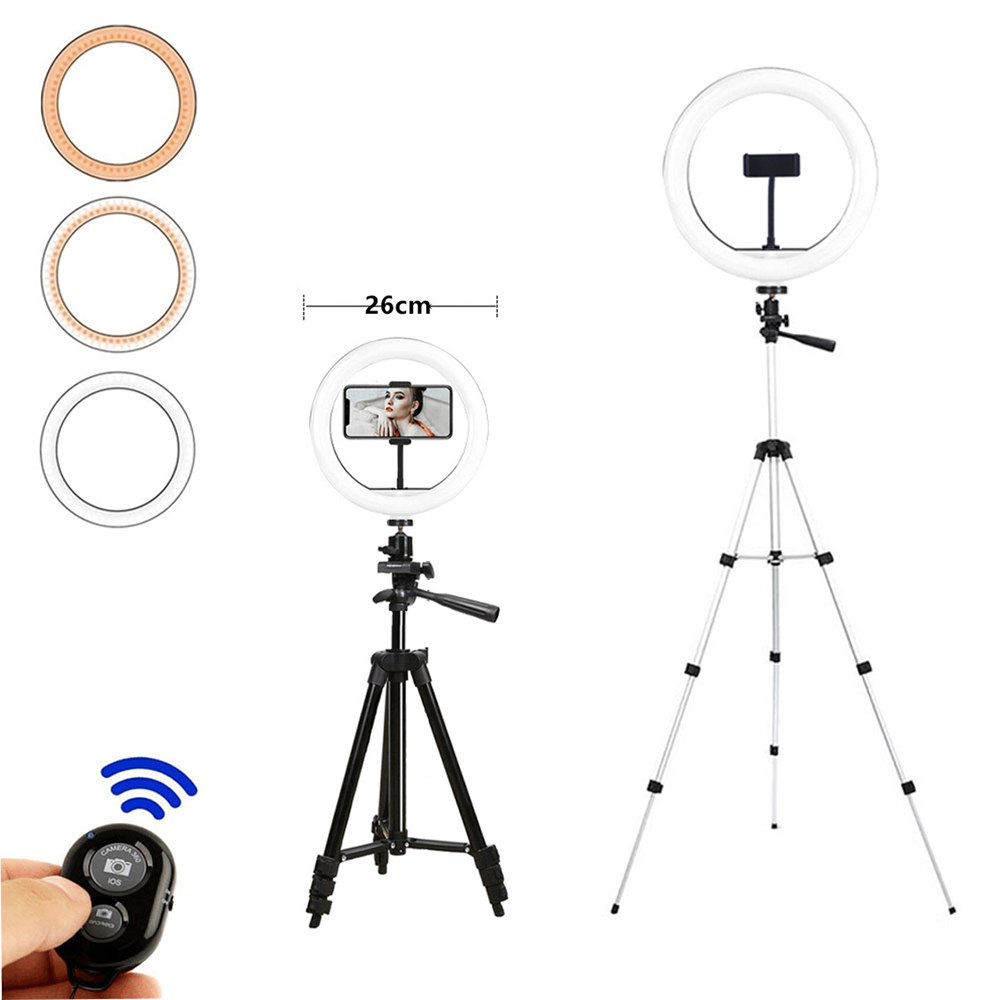 ring light Tripod Round led ring lamp Ring light for phone selfie Photography For Youtube Video Live professional Photography 1