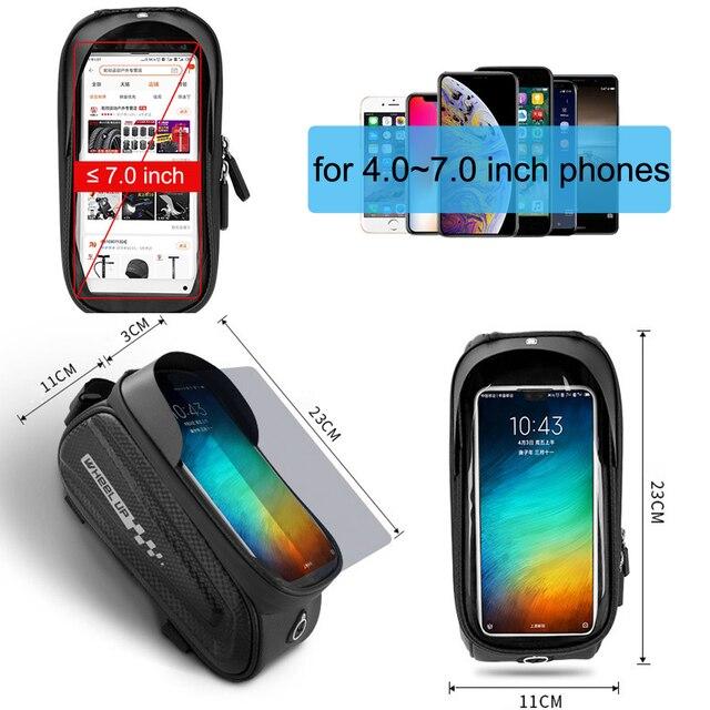Newboler bolsa de ciclismo à prova de chuva, estojo para celular, touch screen, mtb, acessórios de bicicleta, para cano superior, refletor 3