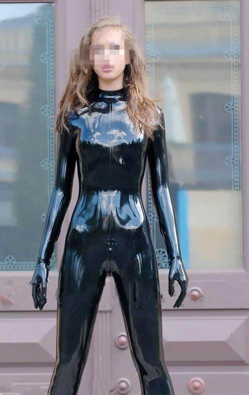 Catsuit girl latex Women's Latex