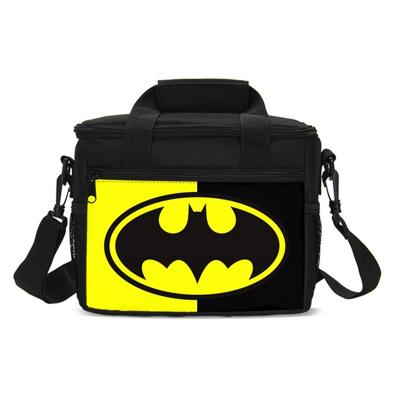 3D Batman Super Boys Lunch Bags Children Waterproof Insulated Cooler Bags Necessary Picnic Pouch Unisex Thermal Food Accessories