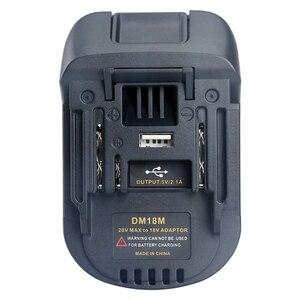 Image 1 - New 20V Per 18V Batteria di Conversione Dm18M Batterie Li Ion Charger Adapter Strumento Per Milwaukee Makita Bl1830 Bl1850