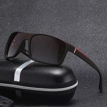 Neuheiten Trendy Mode Sonnenbrille Männer Frau Übergroßen Rechteck Marke Designer Vintage Retro Polarisierte Fahrer Brille 2917