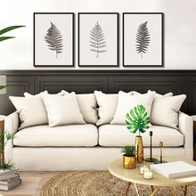 Drop Shipping 3 Pieces Modern Minimalist Canvas Painting Plant Leaves Wall Art Print Poster Picture Living Room Home Decoration