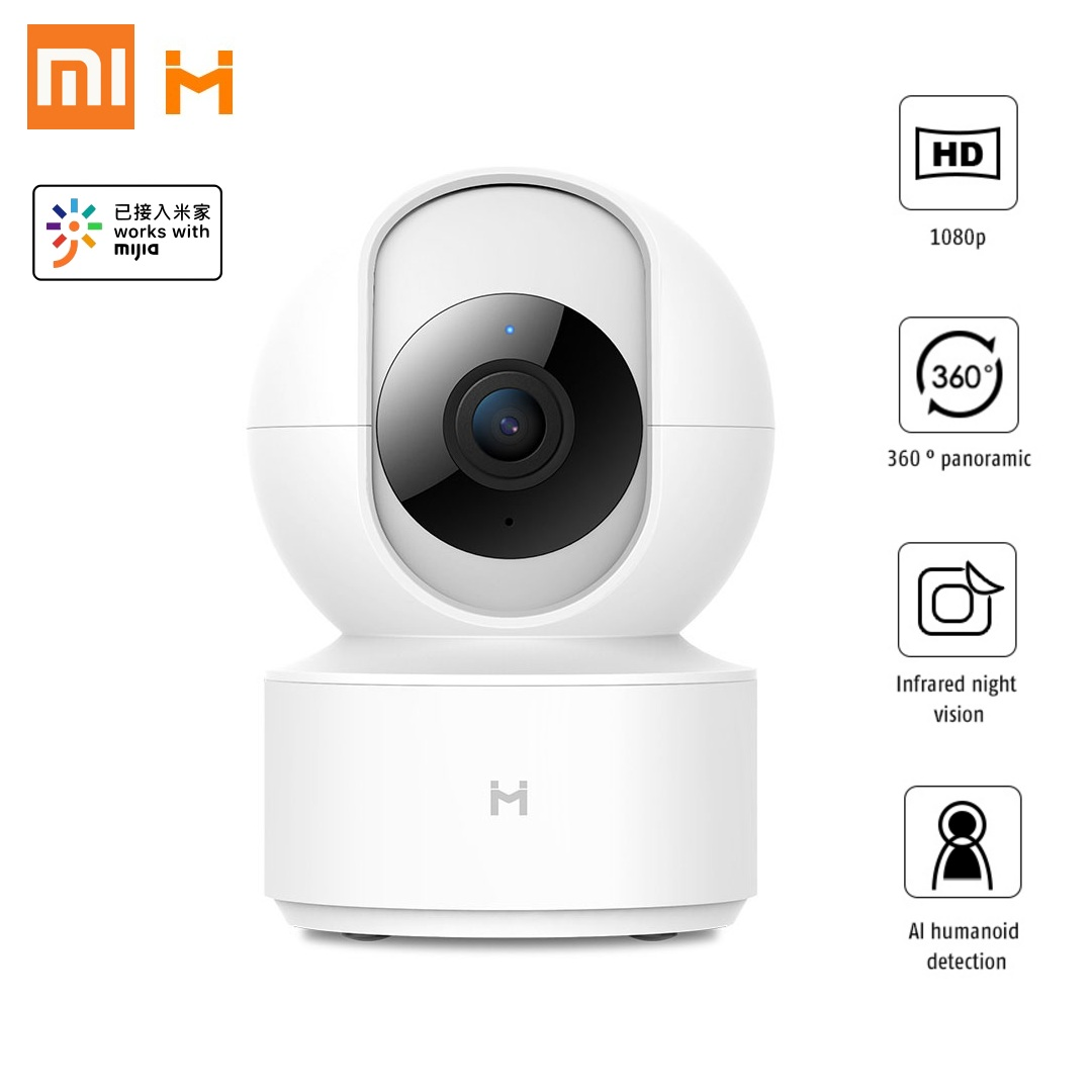 Xiaomi Mijia Xiaobai Smart IP Camera 1080P 360 Degree IR Night Vision Al Human Detection Mi Home APP Panoramic Wireless Camera