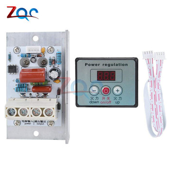 AC 220V 80A Power Regulation 10000W SCR Digital Electronic Voltage Regulator Speed Control Dimmer Thermostat with On/Off Switch - discount item  10% OFF Electrical Equipment & Supplies
