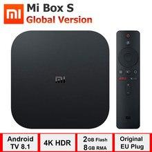 Xiaomi Mi Box S 4K TV 박스 Cortex A53 쿼드 코어 64 비트 Mali 450 1000Mbp 안드로이드 8.1 WiFi BT4.2 2GB + 8GB HDMI 호환