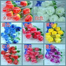 Free Shipping 7-10 PCS Artificial Rose/Carnation Flower Bouquet Creative Decoration(China)