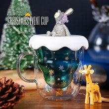 Креативная Рождественская кружка боросиликатное стекло елка