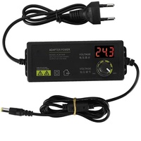 3-36V 60W Power Adapter Einstellbare Spannung Adapter Led-anzeige Schalt Netzteil EU Stecker für LED licht Streifen Motor