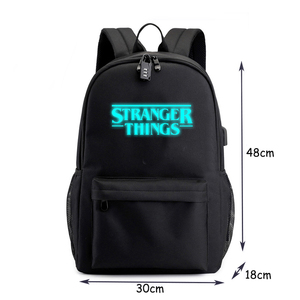 Image 4 - Stranger Dingen Rugzak Multifunctionele Usb Opladen Voor Tieners Jongens Student Meisjes Schooltassen Reizen Lichtgevende Tas Laptop Pack
