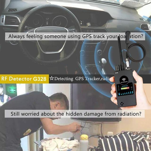Anti Spy RF Detector,High Sensitivity Wireless Bug Detector for GPS Tracking GSM Listening Device Finder Radio Scanner 5