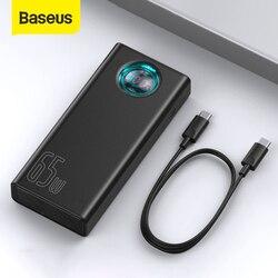 Baseus باور بانك 30000mAh 65 واط PD شحن سريع QC3.0 Powerbank لأجهزة الكمبيوتر المحمول شاحن بطارية خارجية آيفون سامسونج شاومي