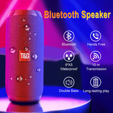 Taşınabilir bluetooth'lu hoparlör kablosuz bas sütun su geçirmez açık USB hoparlörler destek AUX TF FM radyo Subwoofer hoparlör