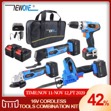 Combination-Kit Reciprocating Electric-Drill Cordless-Tools Angle-Grind NEWONE Lithium-Battery