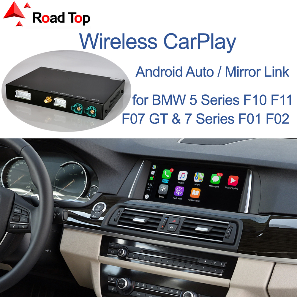 Wireless CarPlay for BMW 5 7 Series F10 F11 F07 GT F01 F02 F03 F04 2009-2016, with Android Mirror Link AirPlay Car Play Function(China)