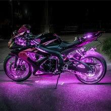 Атмосферное освещение автомобиля мотоцикла 6 RGB 36 светодиодный смарт-стоп-сигнал с беспроводным пультом дистанционного управления Moto декоративные полосы лампы комплект