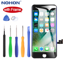 NOHON pantalla LCD para iPhone 7, 8 Plus, 7Plus, 8 Plus, montaje completo, digitalizador, repuesto, AAAA, 3D, táctil + marco