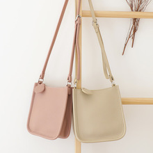 2020 new simple messenger small bag shoulder bag foreign style fashion solid color small square bag shunruyan new women s national vintage craft wipe color leather simple shoulder messenger bag portable small square package