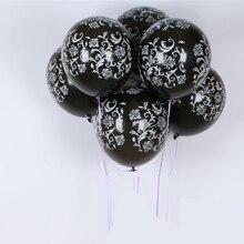 Globos de látex vintage de 12 pulgadas de helio para regalo artesanía cumpleaños boda fiesta baby shower favor decoración DIY negro/blanco ¿