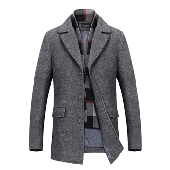 2019 Brand clothing Fashion Male keep warm winter slim fit Woolen cloth jacket/Men's High quality Large size S-4XL Leisure coat