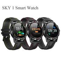 새로운 하늘 1 스마트 시계 남자 IP68 방수 활동 추적기 피트니스 트래커 Smartwatch Clock BRIM for Android Iphone