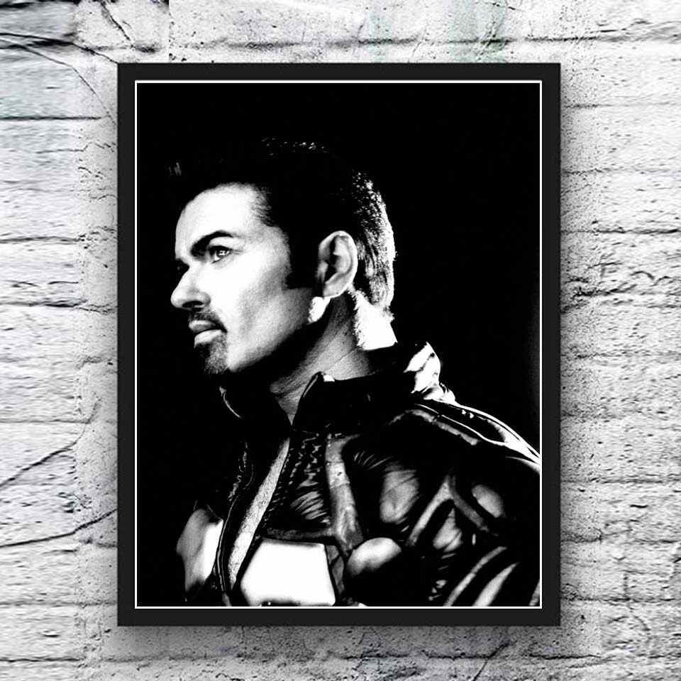 Art Print Poster Canvas George Michael Singing #11