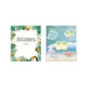 Image 4 - 5Pcs Car Stickers Vinyl Aesthetic Summer Stickers Pack Flamingo Decals for Laptop Ipad Car Luggage Water Bottle Helmet Truck