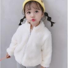 0-4T 1 шт., одежда для маленьких девочек, пальто Зимняя теплая верхняя одежда, куртка детская флисовая куртка для маленьких мальчиков и девочек зимнее теплое пальто, новинка года