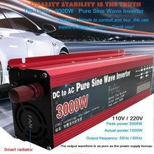 Inversor de onda sinusoidal pura DC 12v/24v a la CA 110V/220V 800W 1600W 2000W 3000W transformador de tensión del convertidor de potencia inversor Solar para el coche