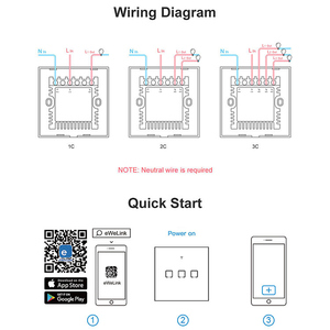 Image 4 - SONOFF TX/T2 EU/UK 1/2/3 Gang Light Led Wall Switch Touch/Wifi/433Mhz RF Remote/Voice Control Smart Panel for Google Home Alexa