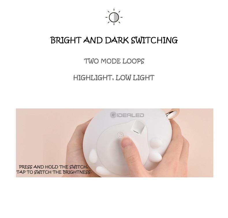 Lâmpada led luz de mesa bateria sonho
