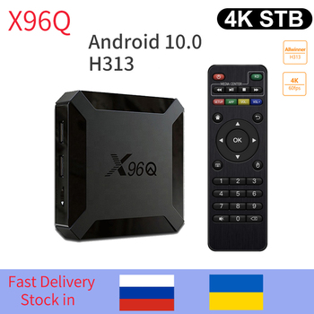 X96Q TV Box Android 10 Allwinner H313 Quad Core 4k 3D 2GB 16GB 2.4G wifi Media Player Netflix H.265 Smart Set Top Box pk h96max h96 mini android 9 0 tv box 4gb 64gb allwinner h6 quad core 6k h 265 wifi bluetooth youtube 4k set top box smart 4gb 32gb tv box
