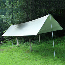 HOtOutdoor Camping Waterproof Beach Tent Silver Khaki Coating Pergola Ultralight Tarp Survival  For Outdoo 3f ul gear 4x3m silver coating flysheet waterproof sunscreen 210t taffeta hanging tarp tent beach canopy
