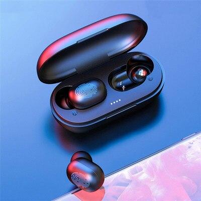 GT1 наушники-вкладыши TWS с отпечатков пальцев Сенсорный экран Bluetooth наушники, HD стерео Беспроводной наушники, Шум отмена игровая гарнитура