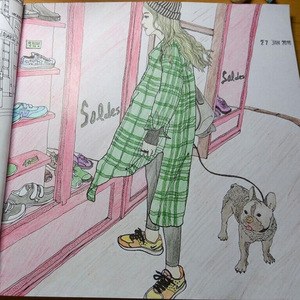 Image 5 - 96 דפים אופנה לחפש צביעה ספרים למבוגרים ילדי בנות antistress אמנות ציור ציור סוד גן צביעת ספר Libros