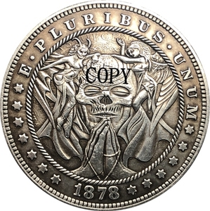 Hobo Nickel 1878-CC USA Morgan Dollar COIN COPY Type 155(China)