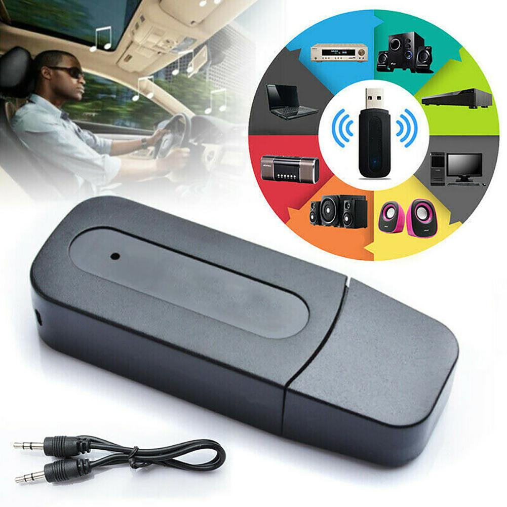 Arrival 3.5mm Aux to USB Wireless Bluetooth Audio Stereo Home Car Music Receiver Adapter