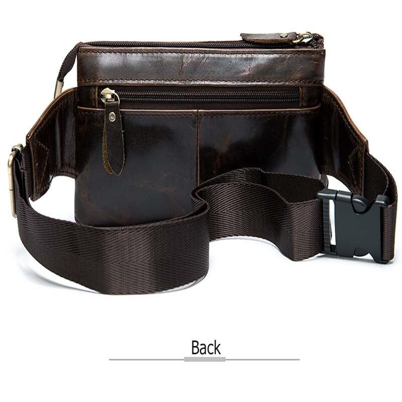 Bandolera para hombre, marrón oscuro, bolso de pecho diario, de alta calidad, de gran capacidad, bolso de hombro de cuero dividido para iPad nuevo - 4