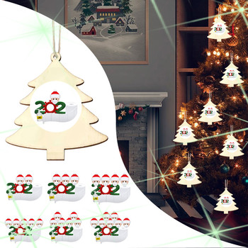 Christmas Ornaments Wooden Ornaments Santa Clause Warm Family Handmade Xmas Tree Drop Ornaments Christmas Decroations For Home image