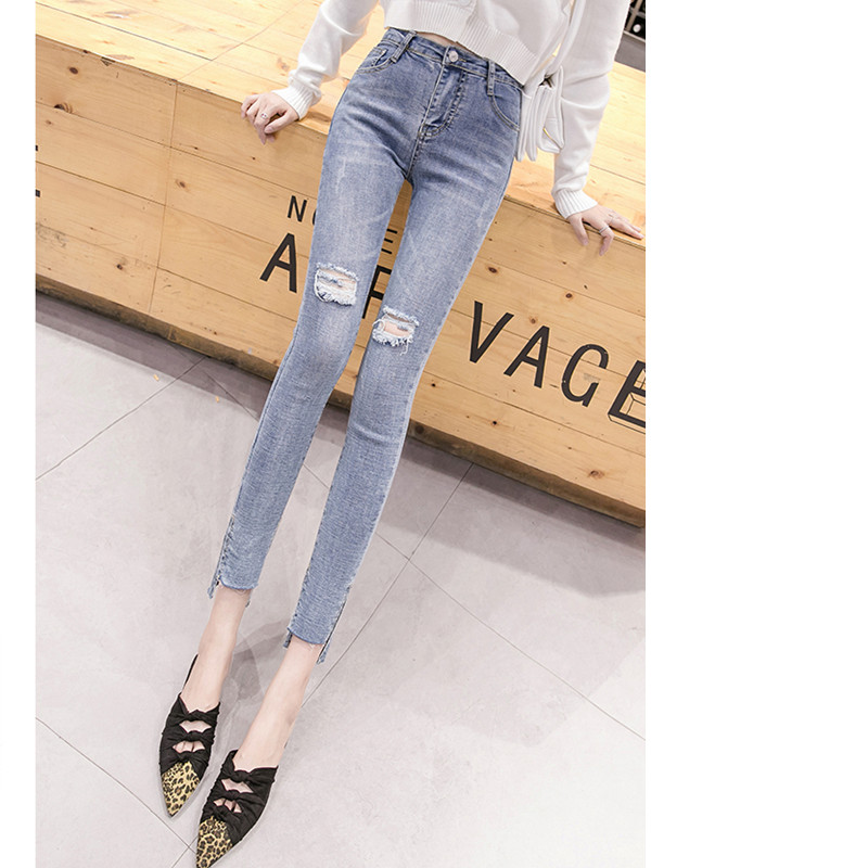 JUJULAND Jeans Female Denim Pants Blue Color Womens Jeans Donna Stretch Bottoms Feminino Skinny Pants For Women Trousers 805